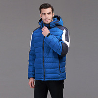 Outdoor Men S Clothing Thickening Male Cap White Duck Down Winter Cold Proof Outerwear Color Block