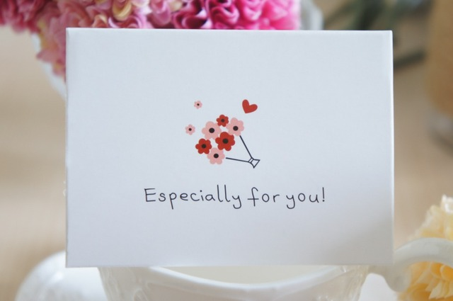 50pcs mini especially for you card message cards simple design lucky love valentine christmas party invitation