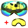 COPOZZ Ski Goggles Double Lens Anti Fog Large Glasses Skiing Unisex Snowboard Goggles Spherical Mask Ski