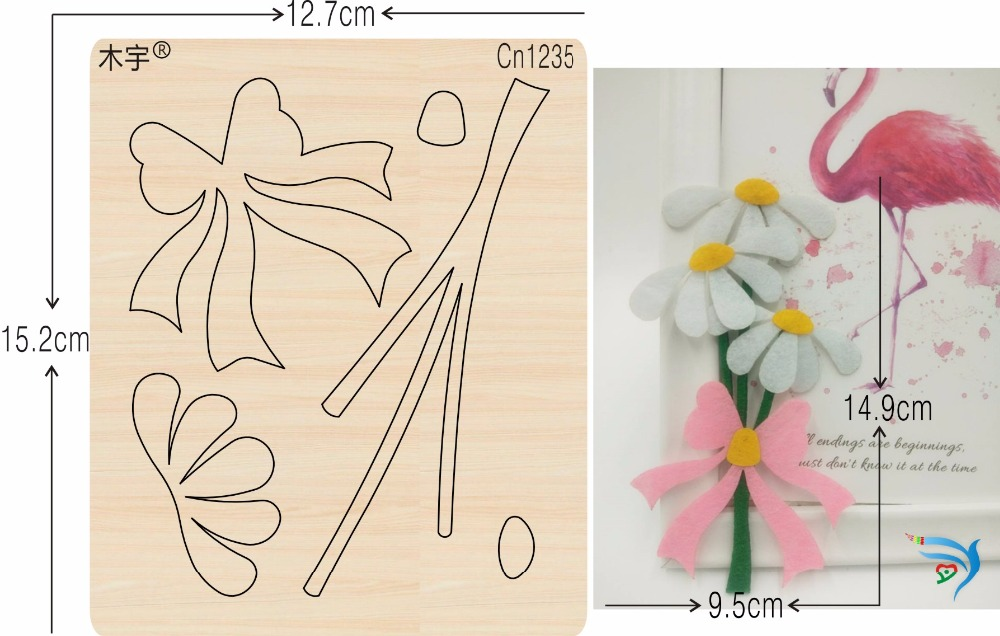 Flowers and bows new wooden mould cutting dies for scrapbooking Thickness 15 8mm