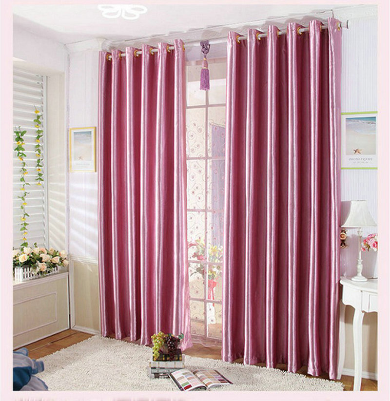 Modern style Rose Embossed Curtains For Living Room Bedroom Solid ...