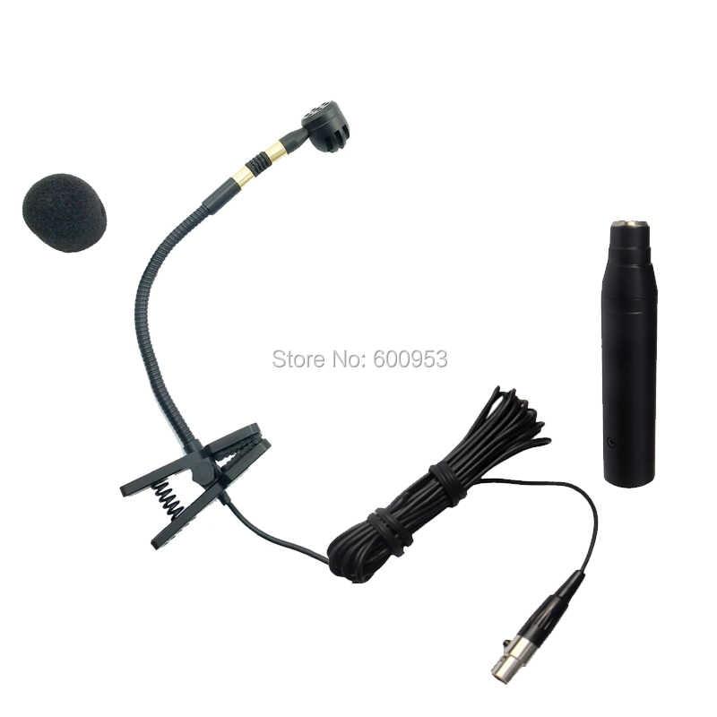 Cm-20 Профессиональный Инструменты конденсаторный микрофон для Саксофоны оркестровых Vocal + Phantom Мощность XLR большой 3pin адаптер