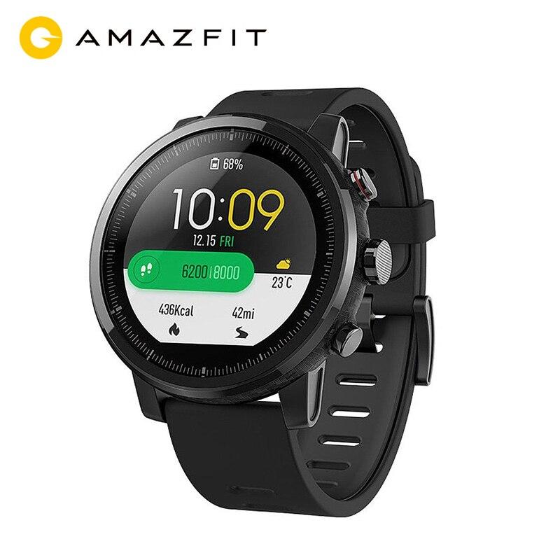 Montre intelligente Version mondiale originale Xiaomi Huami Amazfit Stratos 2 Sport GPS 5ATM eau GPS première montre intelligente de natation