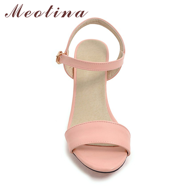 Meotina Shoes Women Sandals Summer Women Wedge Sandals Casual Buckle ... 31afd83fe37f
