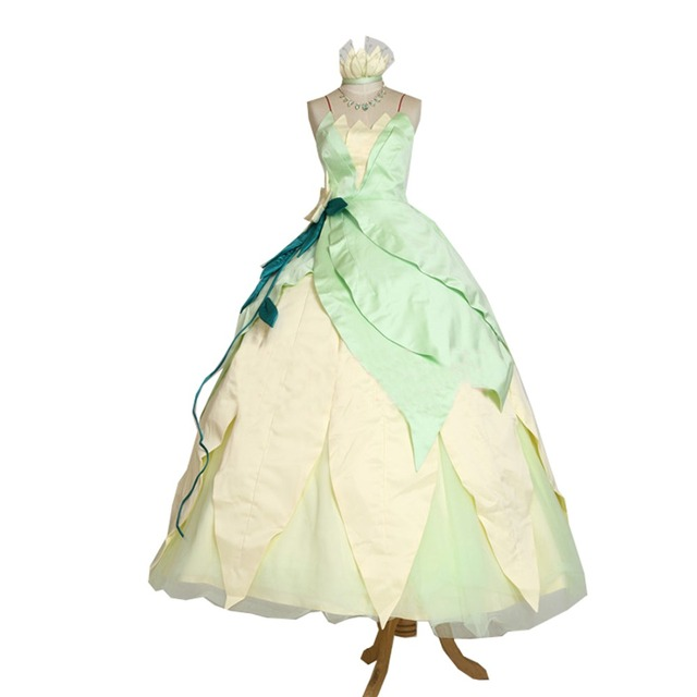 2017 Wedding Party Halloween Cosplay Princess Tiana Dress Adult Princess Tiana Costume(No Necklace0  sc 1 st  AliExpress.com : princess tiana costume adult  - Germanpascual.Com
