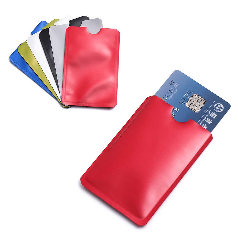 10 Pcs/Pack Anti Rfid Blocking Card Holder Anti-theft Reader Lock Bank ID Case Smart Safety Protection Metal Credit Card Holder