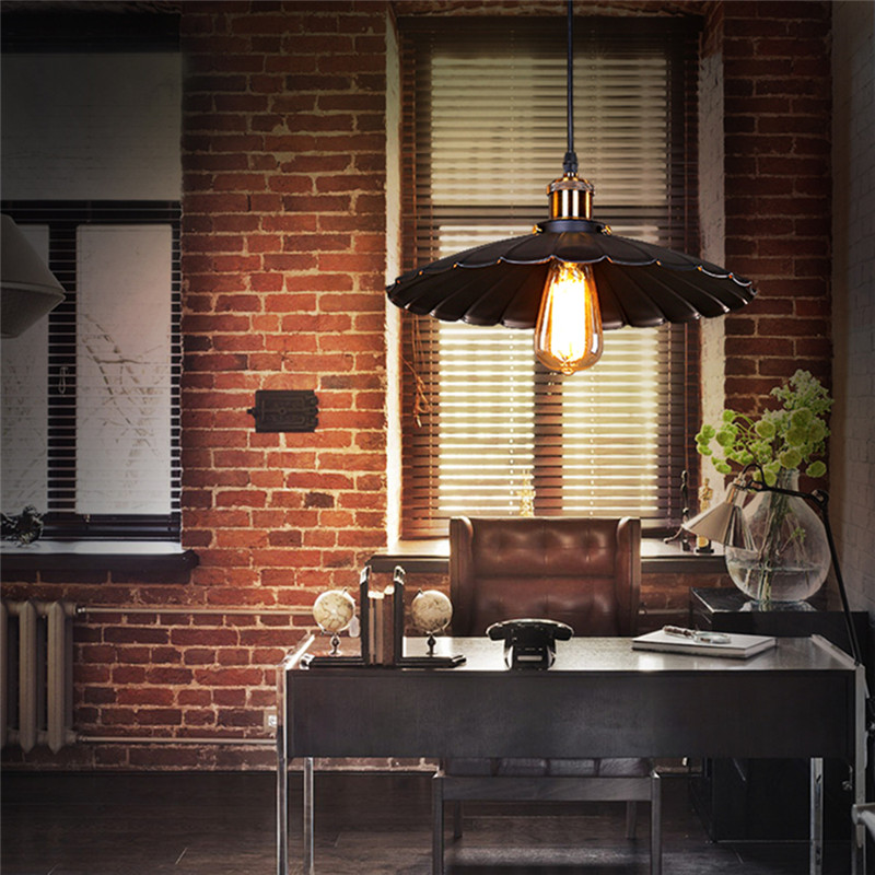 Antique Wrought Iron Pendant Lights Vintage Black Small Lighting Fixtures Kitchen Island Hotel Bar Room LED Modern Ceiling Lamp in Pendant Lights from Lights Lighting