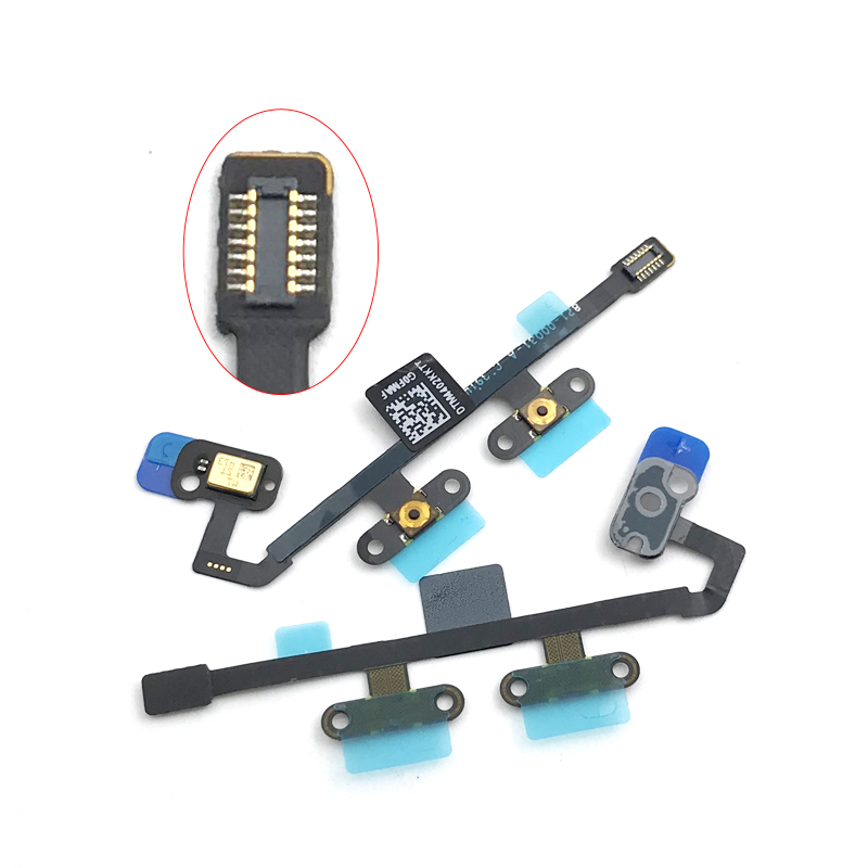 Ribbon Flex Cable Mute Volume Button Key Control Microphone Mic Replacement For Apple Ipad 6 Air 2 Dropshipping Audio & Video Replacement Parts