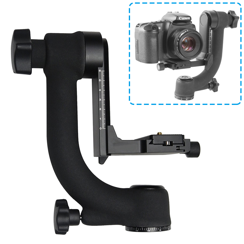 Professional 360 Degree Panoramic Gimbal Tripod Head with Arca-Swiss Standard Quick Release Plate for DSLR Camera Telephoto Lens 360 degree panoramic gimbal tripod head with arca swiss standard 1 4 quick release plate bubble level for digital slr camera