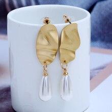 2019 Best Selling Small Fresh Korean Version Big Imitation Pearls Ladies Drop Earrings &Romantic Brincos For Women Bride Jewelry