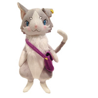 50cm Emilia Cat Life In A Different World From Zero Parke Cat With Backpack Plush Soft Stuffed Toy For Kids Birthday Gifts