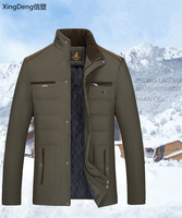 XingDeng 2020 new cotton Men's Winter Jacket fashion Jackets Casual Outerwear Snow Warm Collar Brand top Coat Parkas Big Size
