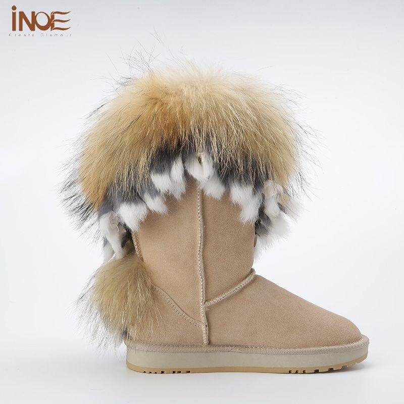 Nouveau bottes d'hiver des bottes de neige fourrure de renard bottes imitation Mme de neige, Brown 37
