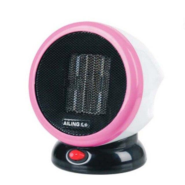 Portable Personal FTC Ceramic Space Heater Electric 220V 500W Warm Winter Mini desktop Fan Heater Forced Home Applicance Free