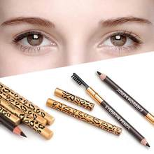 Brand New Waterproof Leopard Eyebrow Pencil Makeup with Brush Eyebrow Tattoo Tint Pencil Brush Handy Comestic Beauty Maquiagem(China)