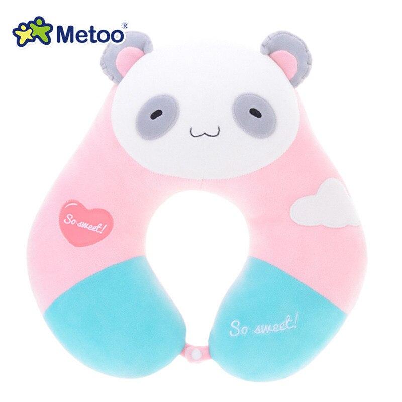 Plush Soft Cartoon Metoo Bear Pillow Dolls Stuffed Panda Cushion with Hasp Toys for Sofa Bed Office Car Gifts for Kids Girls 645 3 cartoon bear style plush pp cotton waist cushion pillow beige brown black