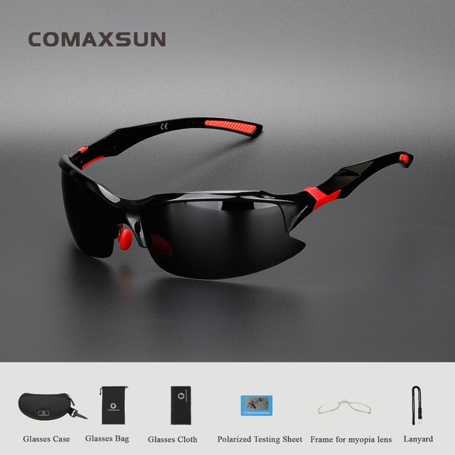 b04b259f98f COMAXSUN Professional Polarized Cycling Glasses Bike Bicycle Goggles  Driving Fishing Outdoor Sports Sunglasses UV 400 6 Color