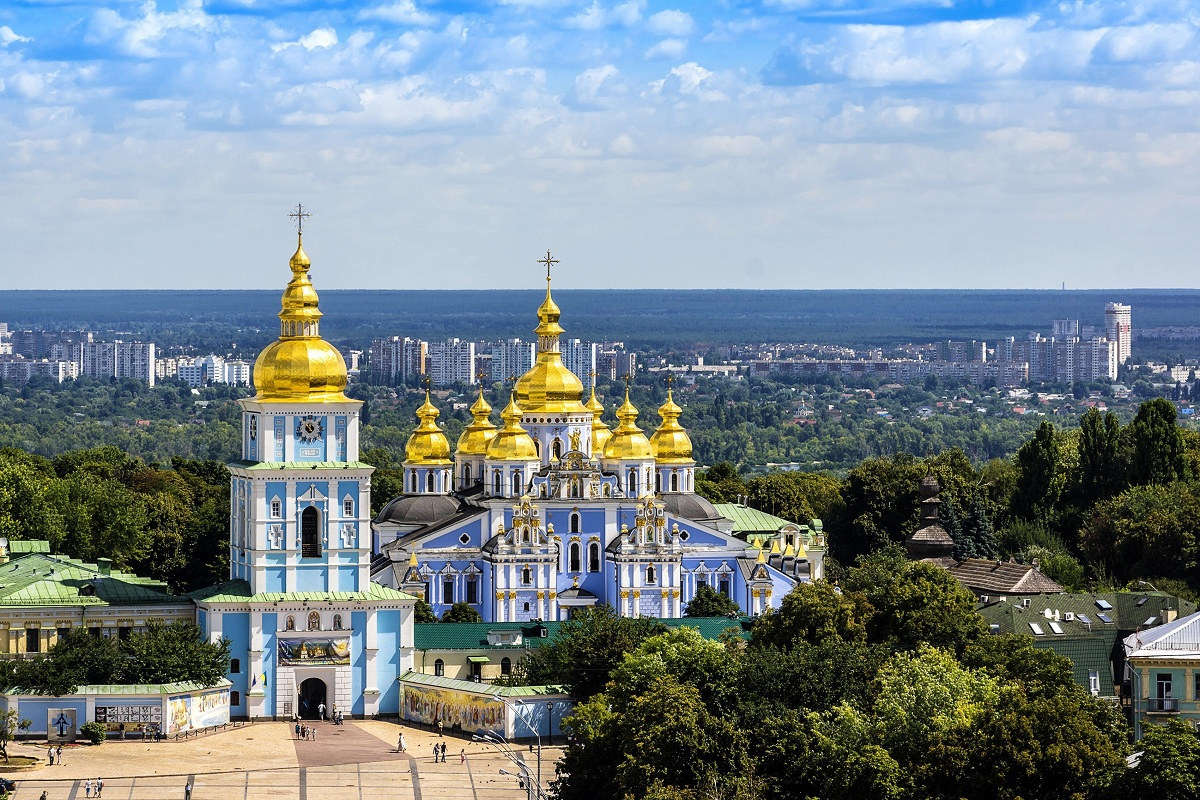 Panorama Of Kiev St Michael S Cathedral Ukraine Tmd512 Wall Art Fabric Poster Frame Available