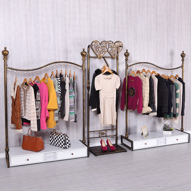 Finest Kids Clothing Rack On The Wall Clothes Iron Floor Rt74