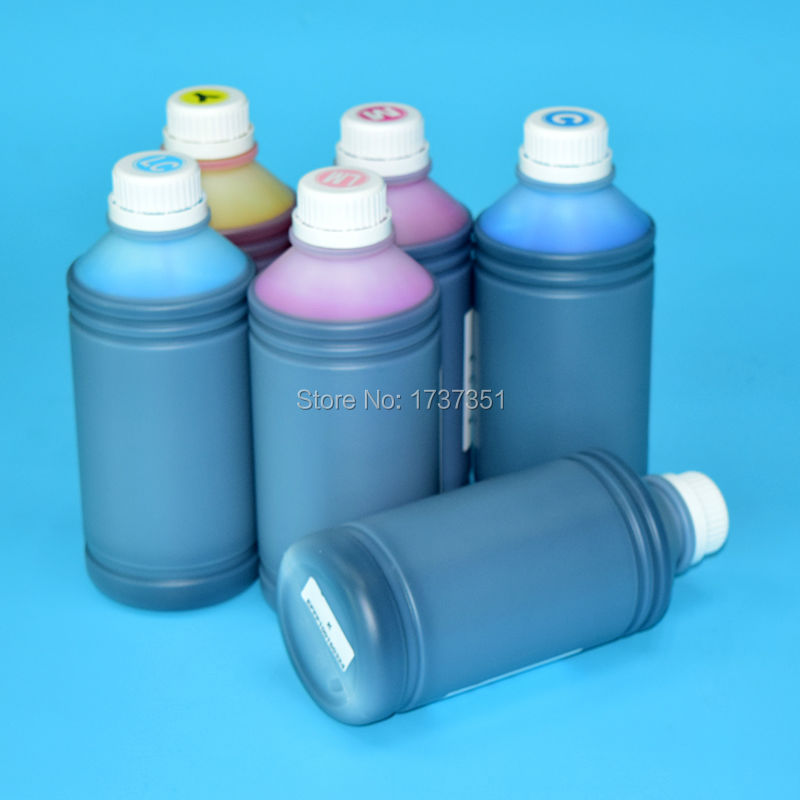6 color 1000ml printing dye ink for Epson SureLab D700 printer hisaint 70 ml refill dye ink 6 ink cartridge ink for epson l101 l111 l201 l211 l301 l351 l353 l l551 l558 for espon printer ink