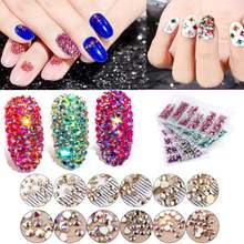1 Pack Flatback Glass Nail Rhinestones Mixed Sizes SS3-SS12 Nail Art Decoration Stones Shiny Gems Manicure Accessories Tools(China)