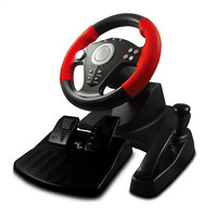 2017 new Game accessory simulation automobile race vibration pc usb computer steering wheel learning car driving 3 pieces sets