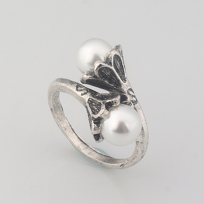 M2 Hot Sale Fashion Movie Game of Thrones Ring High Quality Daenerys Targaryen Simulated Pearl Alloy Women Jewelry