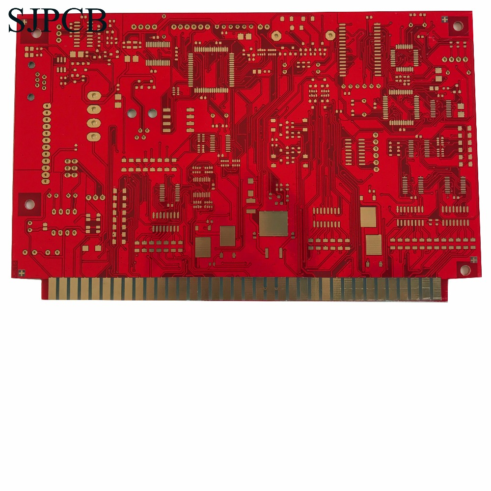 Sjpcb High Quality Multilayer Board 6 Layers Prototype Professional Printed Circuit Pcb Design Clone Manufacture Chamfer Gold Finger Contact Product And Big Quantity Supported Shenzhen Supplier