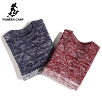 Pioneer Camp new style gradient sweater men brand clothing fashion autumn pullovers top quality causal sweater for men AMS702430
