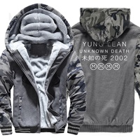 Fashion Hoodies Men 2018 Hot Brand Camouflage Sweatshirt Winter Fleece Thick Hoodie Yung LEAN UNKNOW DEATH