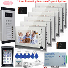 """7"""" Monitor For Video Intercom With Recording Video Video Intercom For A Private House SD Card +Keypad Access Control System 6v6"""