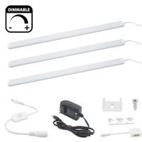 Dimmable LED Kitchen Under Cabinet Rigid Strip Light 3x0.3m/0.5m 17W LED Rigid Bar Light Kit 12V Closet Wardrobe LED Bar Lamp