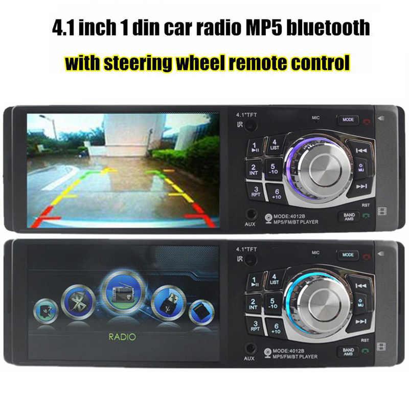 1 Дин радио с 4,1 дюймовый HD цифровой Экран Bluetooth FM тюнер MP3 MP4 плеер SD USB зарядки Поддержка заднего вида Камера
