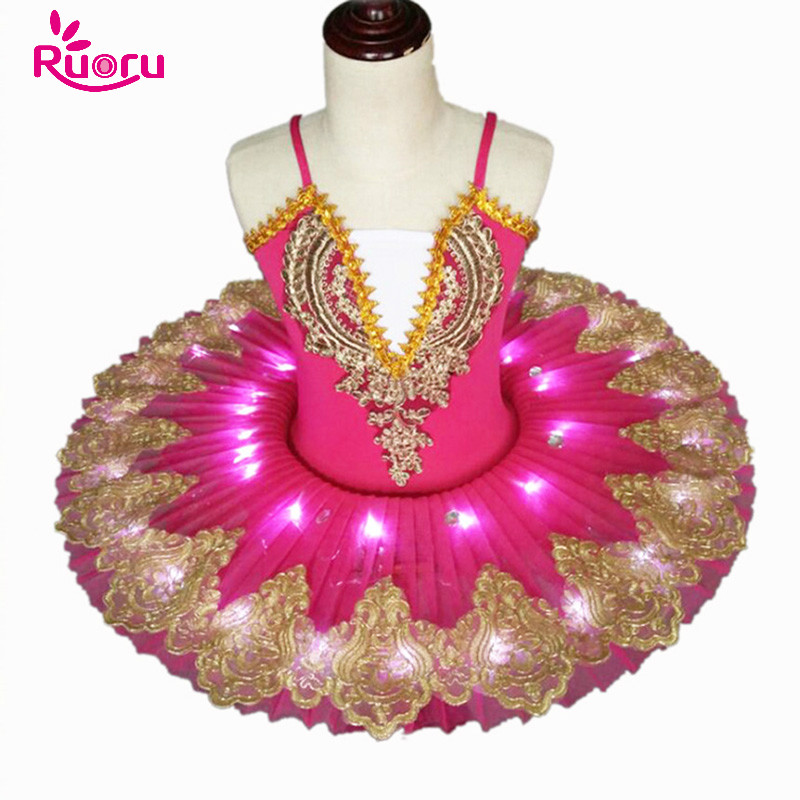 Ruoru girls adult ballet dress swan lake led ballet tutu for kids children child ballerina dress kids girls ballerina costumes