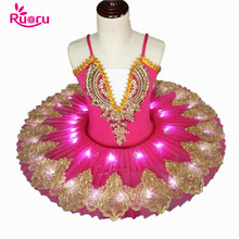 Ruoru girls adult ballet dress swan lake led tutu for kids children child ballerina costumes