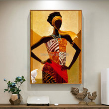 Handmade famous african woman picture On Canvas brown africa portrait oil painting wall art artwork home decoration