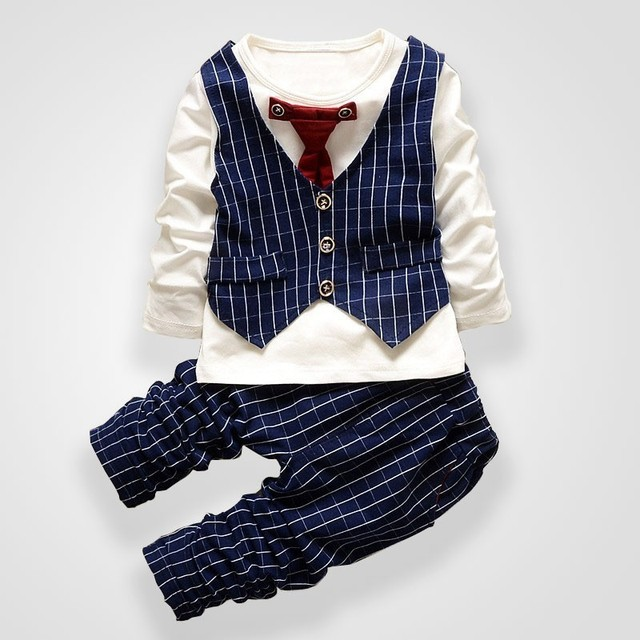 da9f803fd BibiCola 2017 Spring Autumn baby boys christmas outfits clothing sets for  children tie vest suit kids gentleman clothes formal
