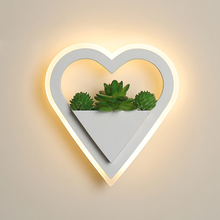LED wall lamp Nordic plant Indoor wall lights Creative bedside bedroom 11W sconce living room simple modern aisle acrylic modern цены