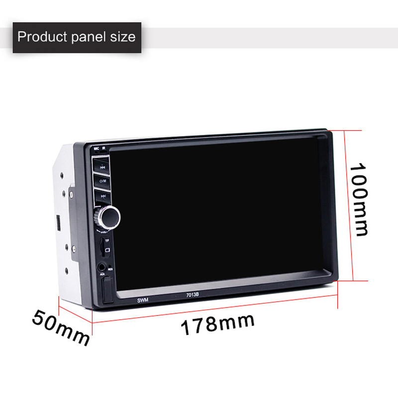 2018 7 Inch Car MP5 Player Car Bluetooth Music MP4 Card Radio Player Display Auto Parts Car Radio In Car Radios High Definition chimole a910 high quality high power 300w 9 inch high definition display dvd player portable square speakers