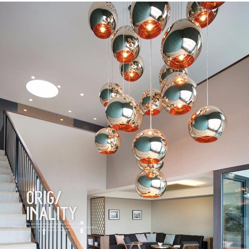 Moderne Pendelleuchten Dixon Style Globe Pendelleuchte Kupfer Glas - Innenbeleuchtung - Foto 6