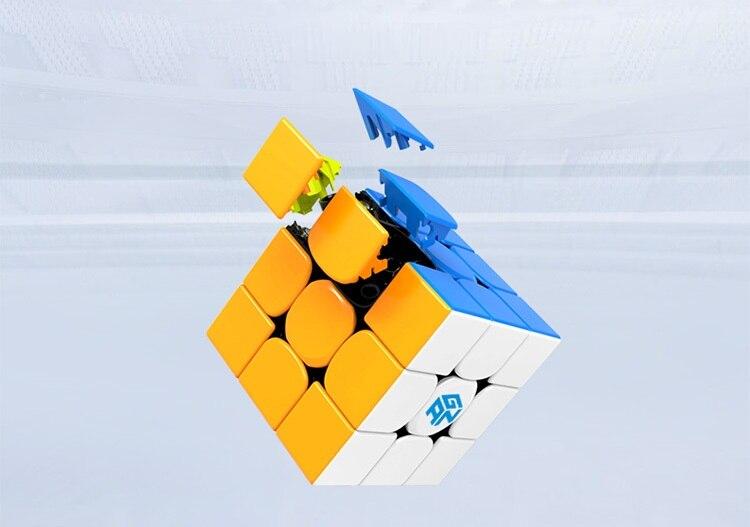 Date Original Gan354M 3x3x3 Cube magnétique Gans 3x3x3 Cube magique professionnel GAN 354 M 3x3 vitesse Cube Twist jouets éducatifs - 5