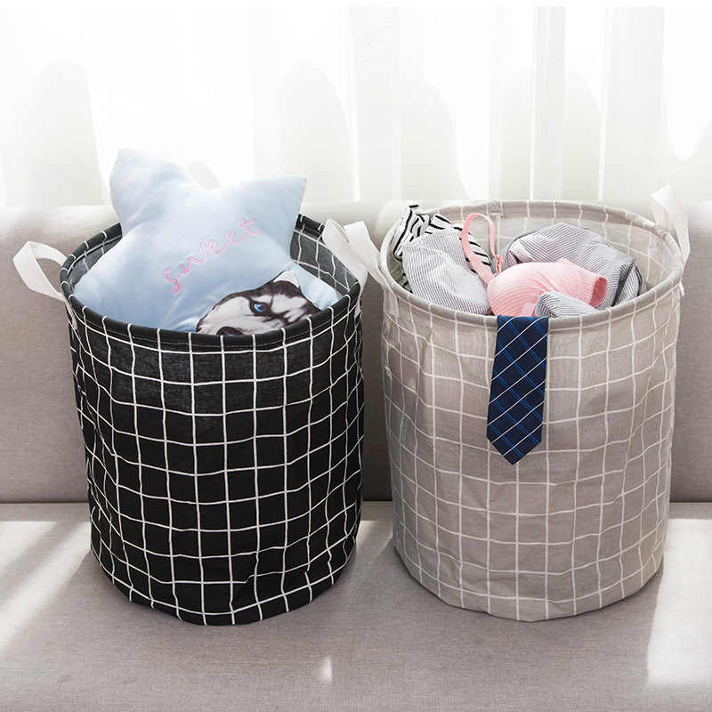 Folding Storage Basket Laundry Basket Storage 40*50cm Large Basket For Toy Washing Dirty Clothes Sundries Storage Baskets Box