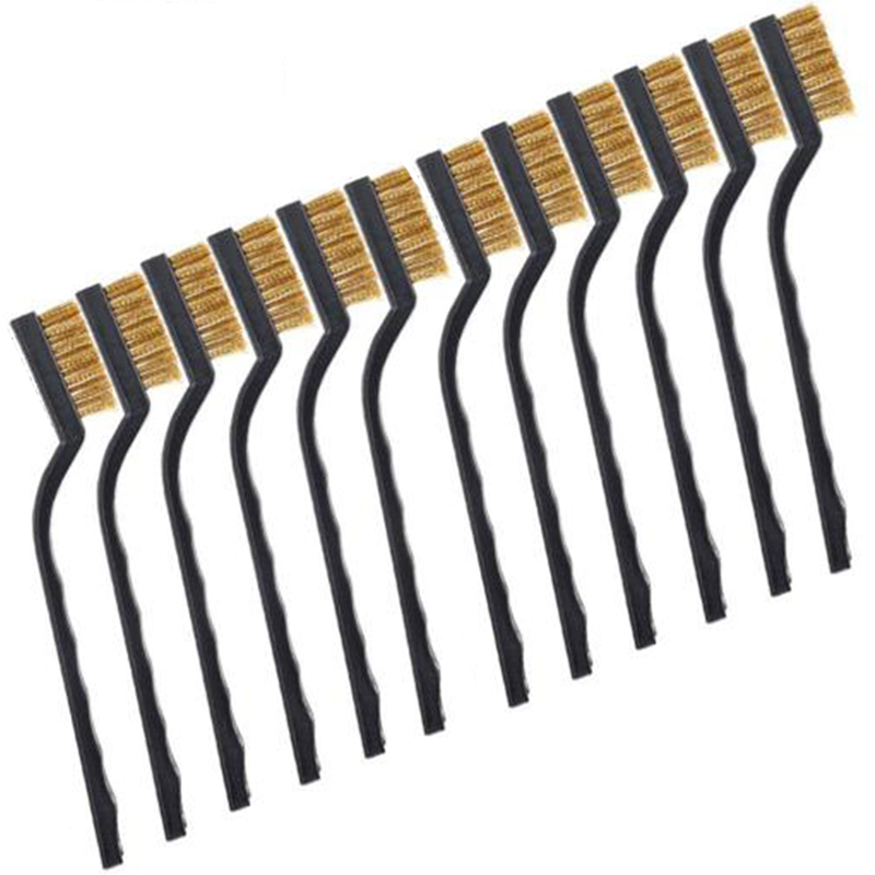 12X Wire Brush Mini Micro Small Steel Brass DIY Paint Rust Metal Remover Removal