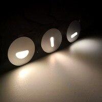 Luminária led de escada  luminária embutida  luzes de passo  à prova d' água ip67  para canto  iluminação de parede  DC12-24V deck