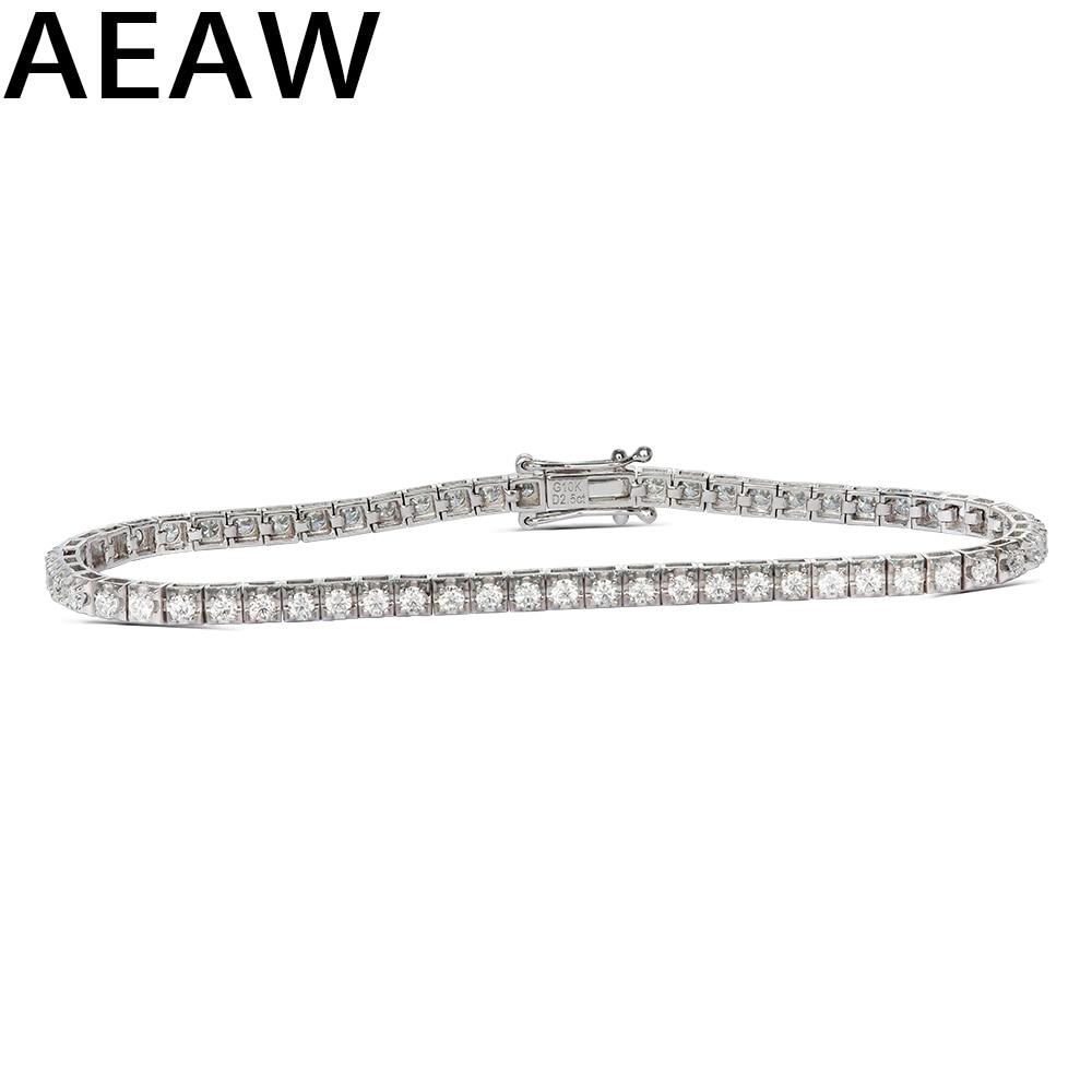 Trendy Stijl Solid 10K 2.5CTW Geel/Wit Goud DF Kleur Moissanite Lab Grown Diamond Armband Charme voor Vrouwen-in Armbanden & Armring van Sieraden & accessoires op  Groep 1