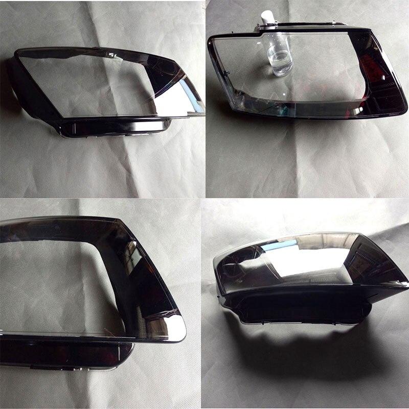Спереди фар стекло абажур оболочки крышка лампы прозрачная маска для audi Q5 2010-2013