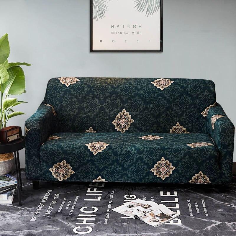 Скольжению диван крышку роскошный печати все включено Tight Обёрточная бумага Съемный Диване Обложки чехол cubre диван 1/2/3/4-Seater