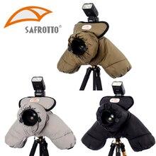 Safrotto Profissional Boa Qualidade Fotográfica Acessório DSLR SLR Protetor de Algodão Manter Aquecido Tampa Da Câmera À Prova D' Água À Prova de Frio