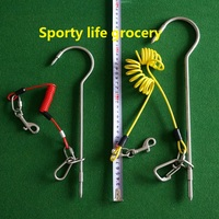 Scuba Diving Dual Stainless Steel Reef Drift Hook With Spring Wire Double Ended Snap One Set