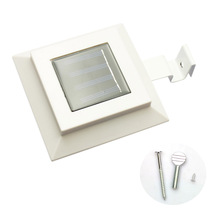 1Pcs Solar Energy Fence Light 3LED Square Sink Household Garden